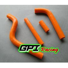 GPI Racing silicone radiator hose for Yamaha YZ125 YZ 125 2 stroke 96-01 97 98 99 00 1996 1997 ORANGE