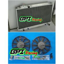 2ROW Toyota Cressida MX83 1989-1993 1990 1991 1992 AT/MT Aluminum Radiator +FAN