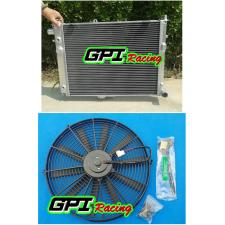 GPI ALUMINUM RADIATOR +fan 1991-1998 SAAB 9000 2.3 TURBO NIB 92 93 94 95 96 97