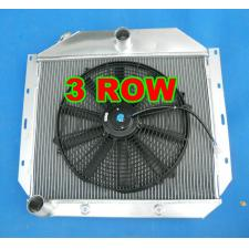 Aluminum Radiator &fan 1951-1957 International Harvester Truck 1952 1953 1954 55
