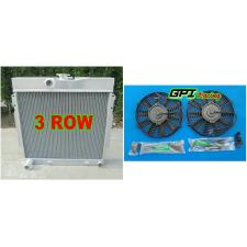 3row ALUMINUM RADIATOR + 2x fan 63-69 DODGE DART/CHARGER/CORNET/FURY PLYMOUTH V8