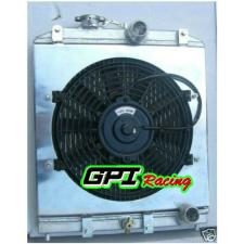 3row 56MM Aluminum Radiator 92-00 Honda Civic EK EG D15 D16 B16 B18 + FAN Shroud