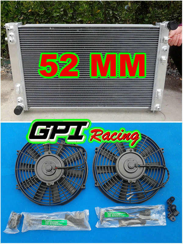 GPI aluminum radiator for Holden VT VX HSV Commodore V8 GEN3 LS1 5.7L + 2 × FANS