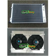 52MM aluminum radiator +shroud+fan for Holden Commodore VY V8 2002 2003 2004 02