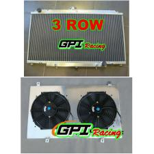 Aluminum Radiator +shroud +fans for NISSAN GU PATROL Y61 PETROL 4.5L 97-01 AT/MT