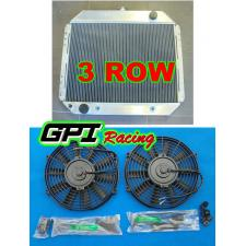 3ROW Aluminum Radiator for FORD F100 F150 F250 F350 V8 67-81 Bronco F-250 + FANS
