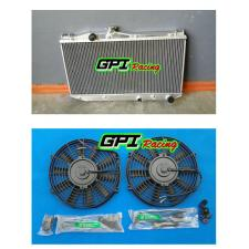 Aluminum Radiator +FAN for TOYOTA Camry SV20 SV21 SV22 1.8L 2.0L 87-1992 AT/MT