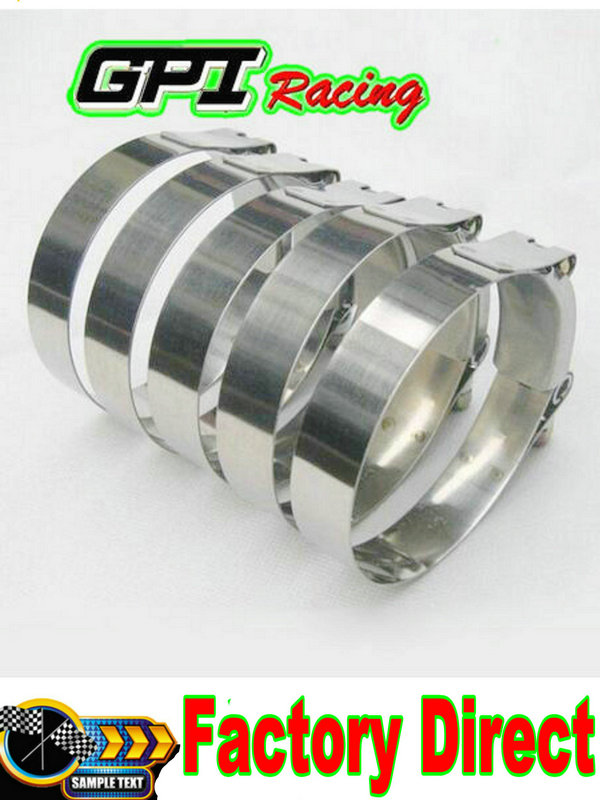 """Stainless Steel 98-106mm 3.75/"""" inch Turbo Pipe Hose Coupler T-bolt Clamp"""